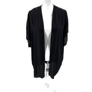 DANIEL RAINN Black Kimono Elegant Coverup